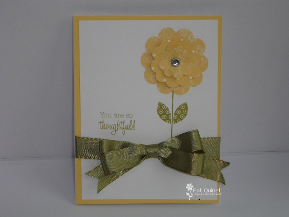 Yellow/Green Thoughtful Card